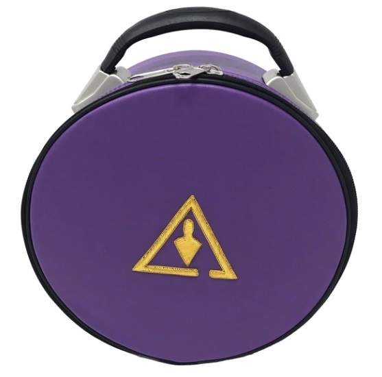 Royal & Select Cryptic Masonic Hat/Cap Case Purple
