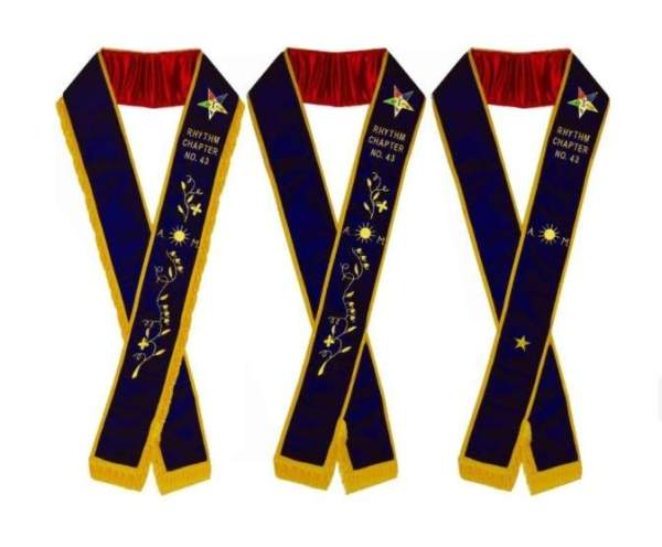 Associate Matron - Hand Embroidered OES Purple Velvet Sashes