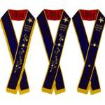 Associate Matron – Hand Embroidered OES Purple Velvet Sashes