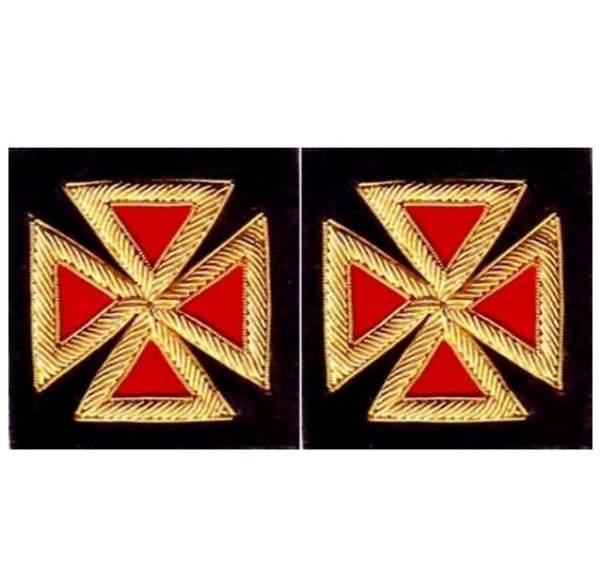 Knight Templar Sleeve Crosses Grand Commander