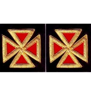 Knight Templar Sleeve Crosses Grand Commander