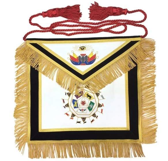 Masonic SCOTTISH RITE 32nd Degree Apron Hand Embroidery Master of Royal Secret