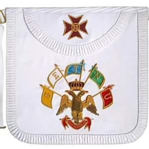 Masonic Scottish Rite Satin Round Apron - AASR - 33rd degree