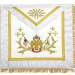 Rose Croix 33rd Degree Hand embroidered Apron wings down