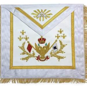 Rose Croix SCOTTISH RITE 33rd Degree Hand embroidered Apron