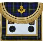 Scottish Rite Master Mason Handmade Embroidery Apron – Striped Blue