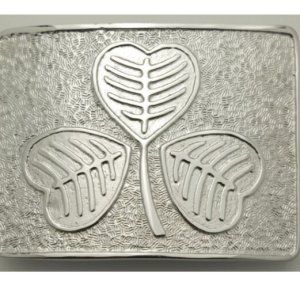 Shamrock Celtic Knot Thistle Buckle For Kilt Belt