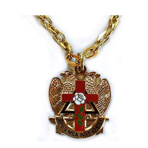 Scottish Rite Rose Croix Cross 32 Degree Masonic Necklace