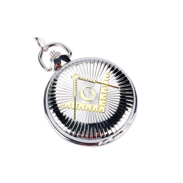 Shining Square & Compass Masonic Pocket Watch