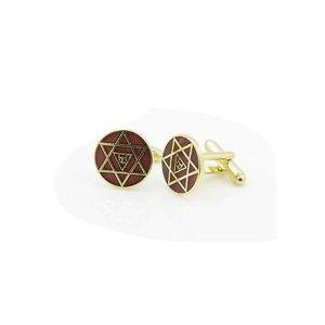 Gilt Metal and Enamel Royal Arch Masonic Cufflinks