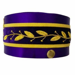 33rd Degree Scottish Rite Purple Cap Hand Embroidery Bullion