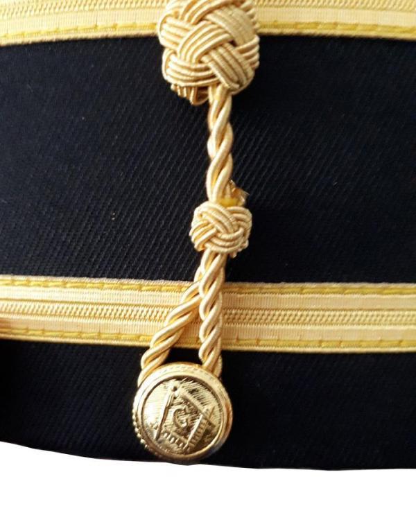 Masonic Knights Templar Red Cross Black Cap