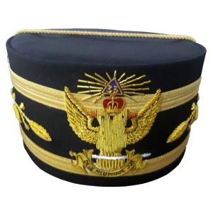 33rd Degree Wings UP Scottish Rite Cap Bullion Hand Embroidery