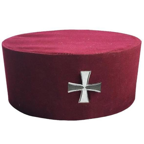 Masonic Knight Templar KT Cap/Hat with Cross