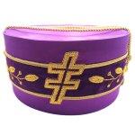 33rd Degree Scottish Rite Purple Cap Bullion Hand Embroidery