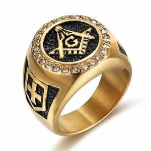 Knights Templar Zirconia Ring