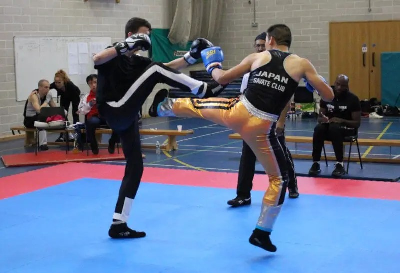 savate kicks in competition