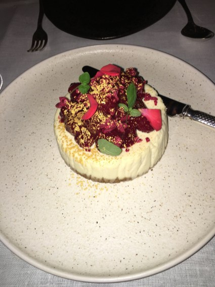 LondonsDiningCouple Sexy Fish Review vanilla cheesecake