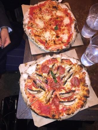 FUNDI PIZZA - Pepperoni and mushroom ; Margarita