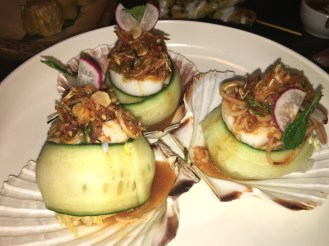 Lime and Chilli scallops