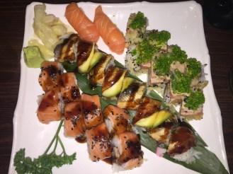 Jumbo Roll; Dragon Eye Roll; Salmon Nigiri; Crunchy Tuna Roll