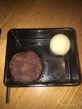 Chocolate Bento Box with Vanilla ice cream