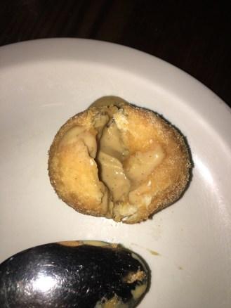 The Black Sugar Custard inside the Donut