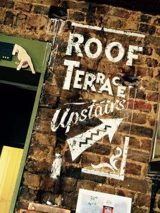 Roof terrace at the Fox - NGS signwriters