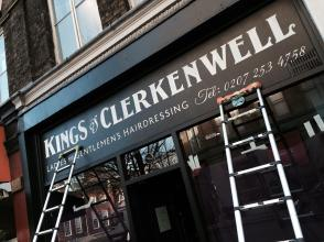 Kings of Clerkenwell sign finished - NGSigns of London