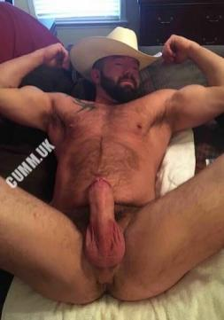 hung silver daddy cowboy mature dick