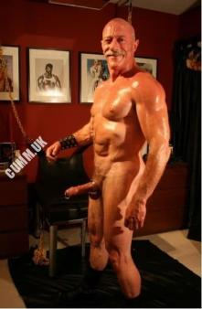 hung silver daddy muscle daddy hung erect leather interests