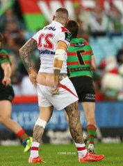rugby old torn rugby shorts and jockstrap rugby-league-rugby-players