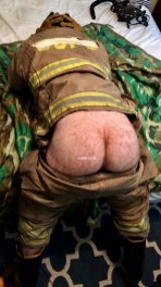 commando uniform men firemans arse exposed