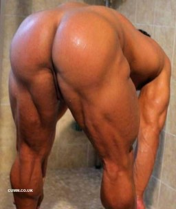 journeyn big muscled butt soapy arse