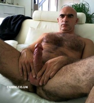 old bald daddy dick wanking