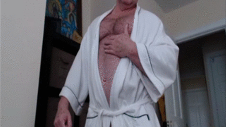 Men Wanking in Bathrobes and Dressing Gowns