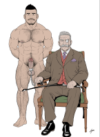 Gengoroh-Tagame-young-nude-old-suited