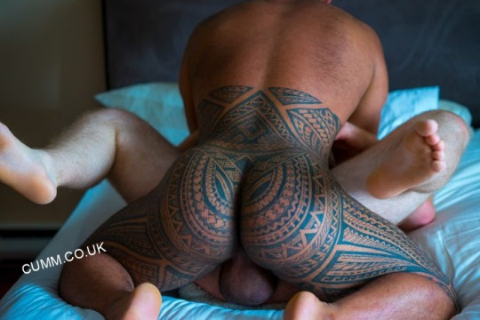 Arse-Bi-Blessed-and-slapped-bi-inked-dad-with-masssive-bull-balls