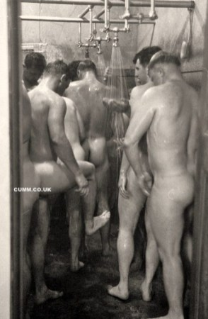 vintage bro naked shower changing rooms