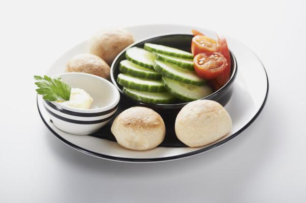 Piccolo Dough Balls Salad & Garlic Butter