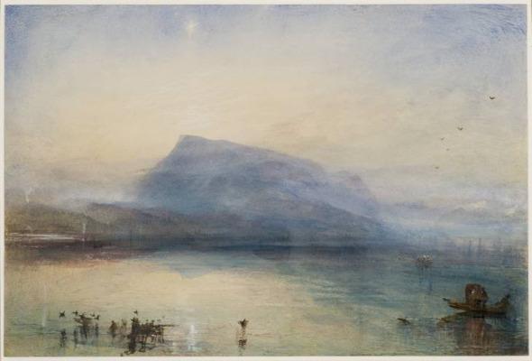 JMW Turner - The Blue Rigi, 1841-2. Watercolour on paper
