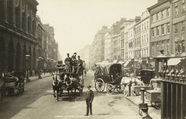 George Washington Wilson, A view of the Strand looking west, c.1890. © Museum of London