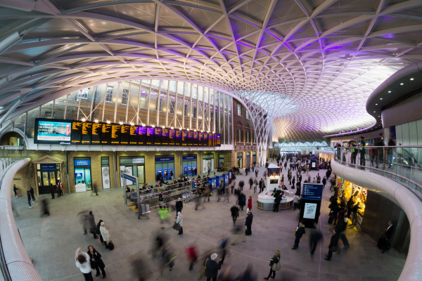 Western concourse at London Kings Cross station