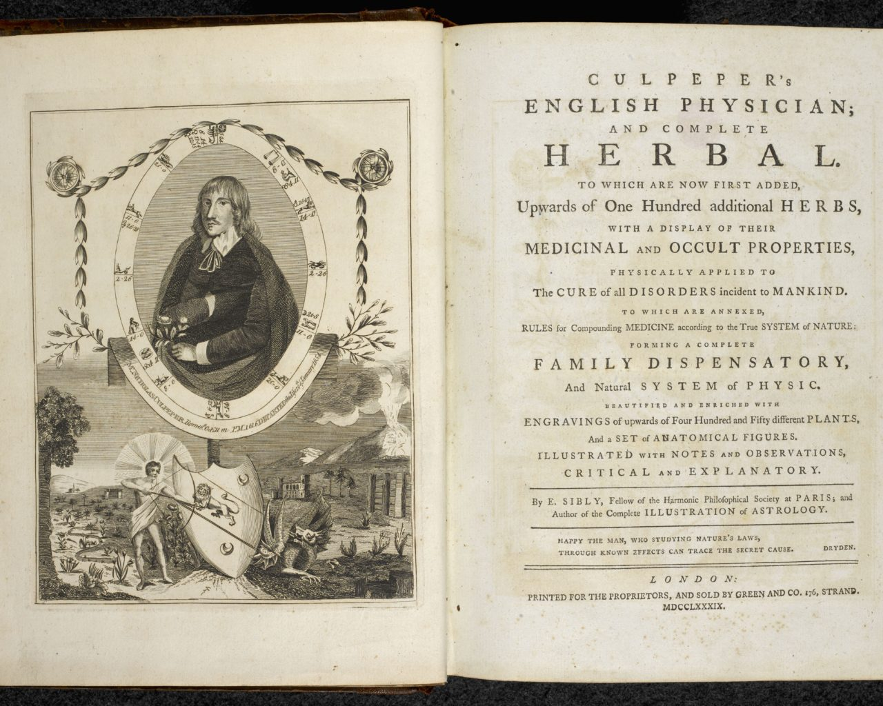 Culpeper's English physician; and complete Herbal - London, 1789 (c) British Library Board