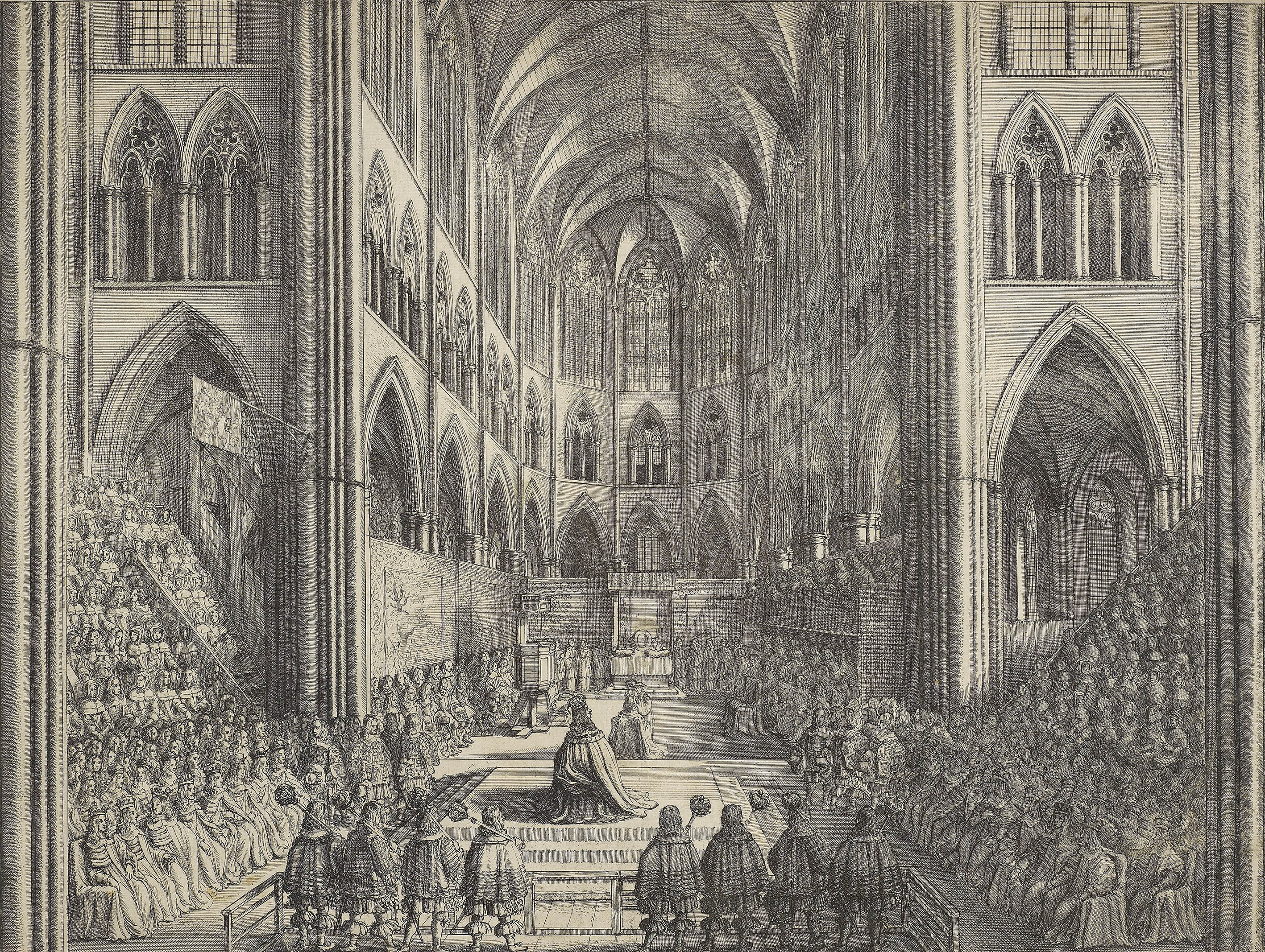 Coronation of King Charles the II in Westminster Abbey the 23 of April 1661, 1662