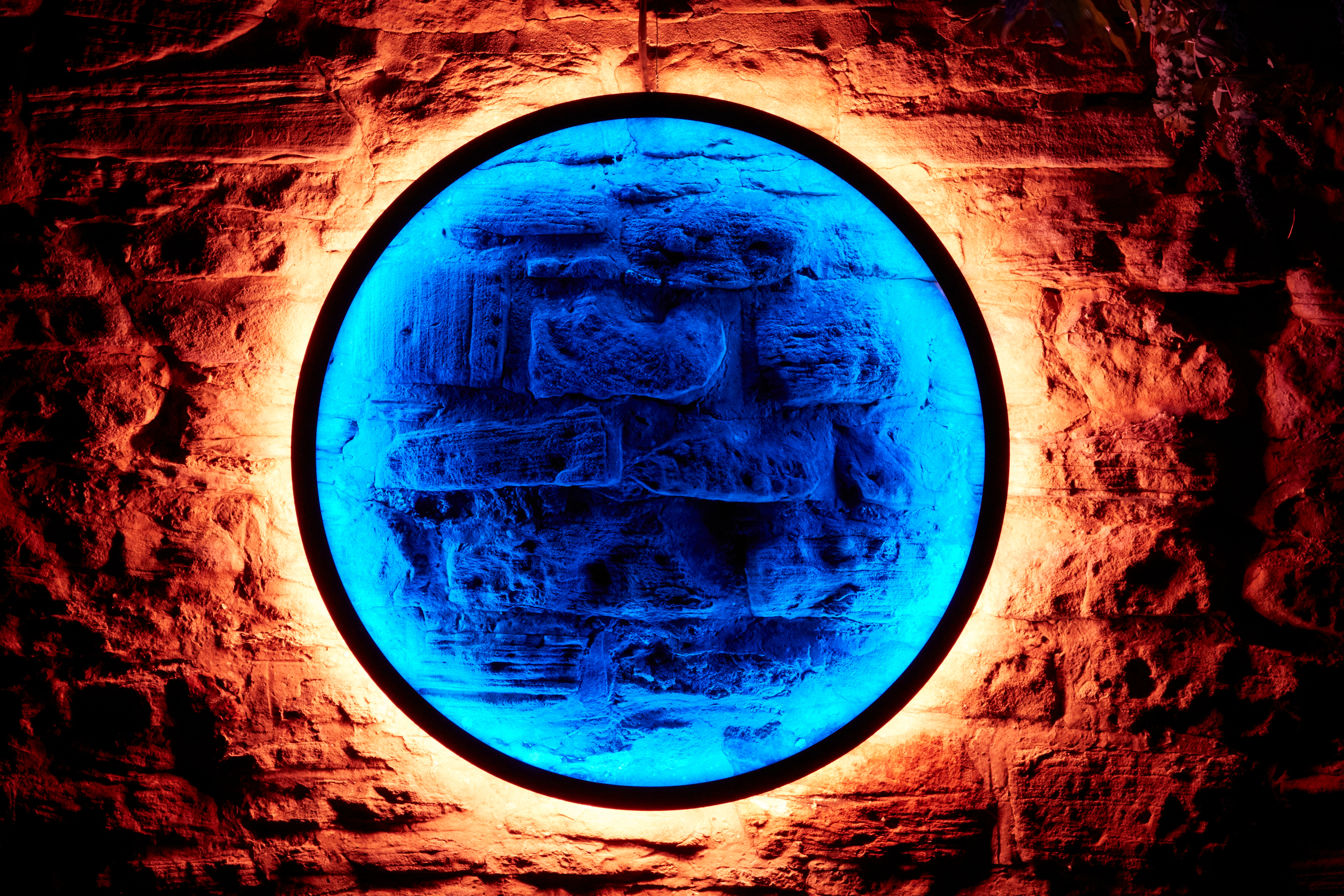 Harmonic Portal by Chris Plant, part of Lumiere Durham 2017, produced by Artichoke and commissioned by Durham County Council. Photo: Matthew Andrews