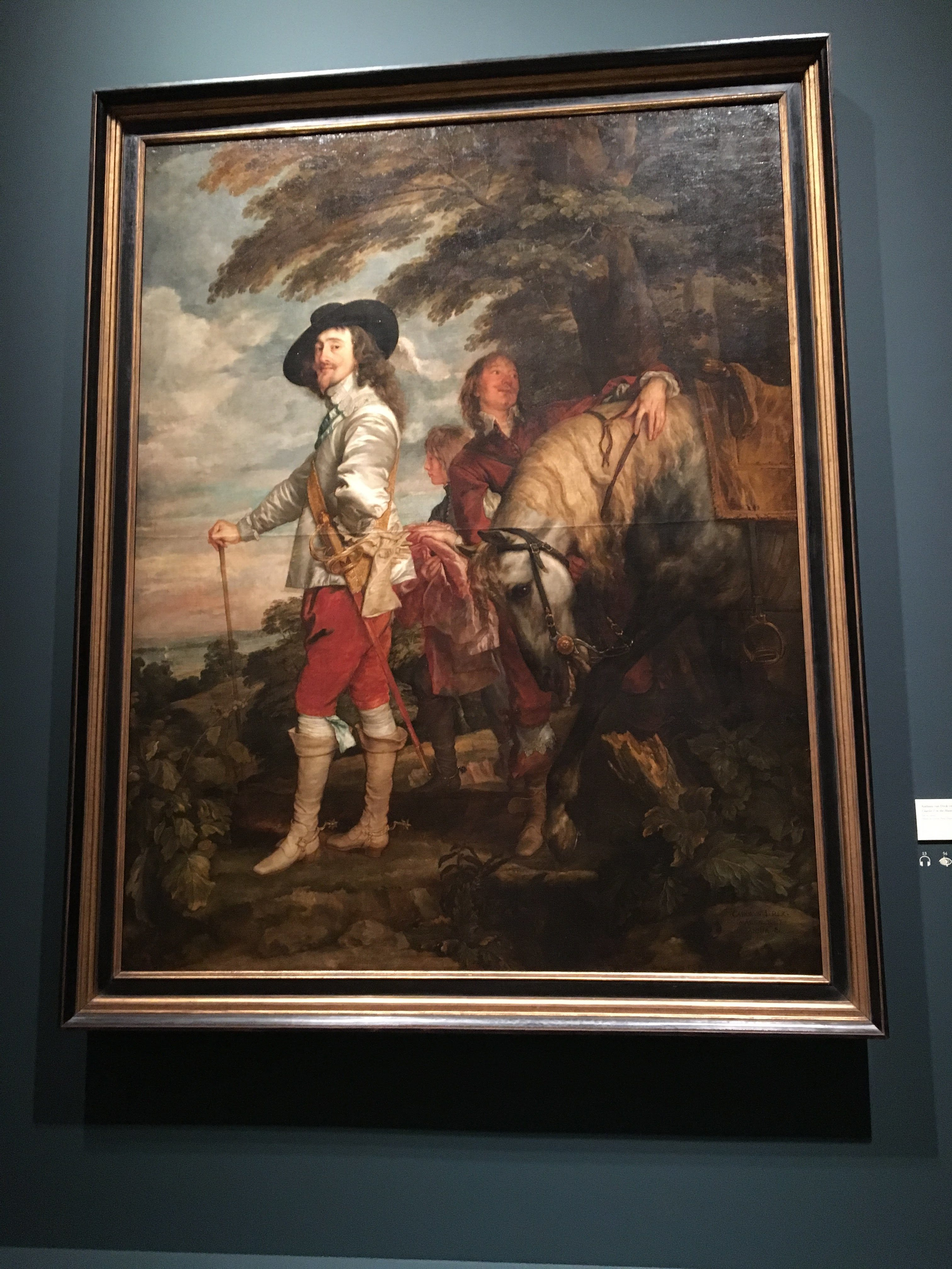 Anthony van Dyck, Charles I in the Hunting Field, 1636 (Musée du Louvre, Paris)