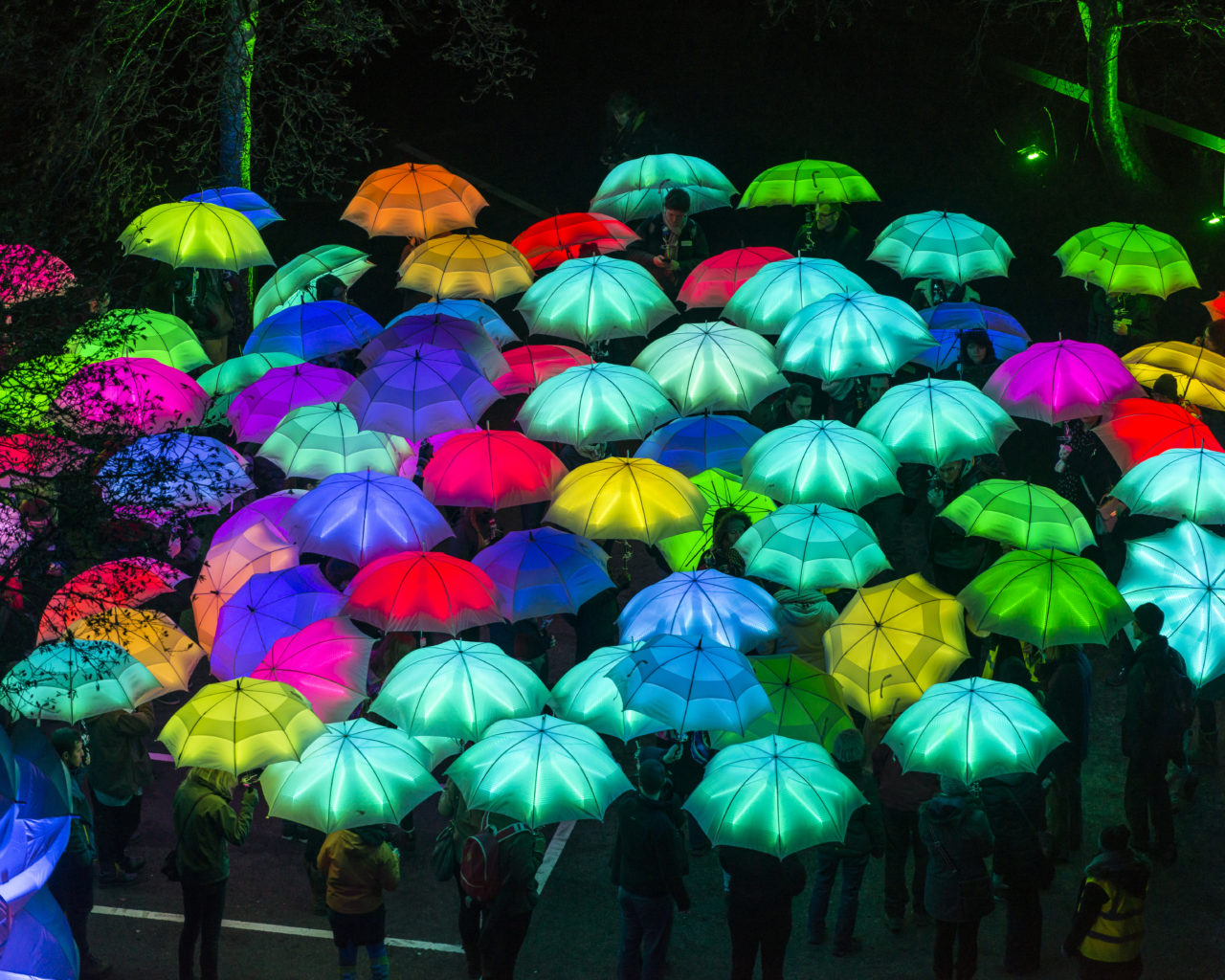 Umbrella Project, Cirque Bijou. Photo by Andre Pattenden. Courtesy of Artichoke and the artists.
