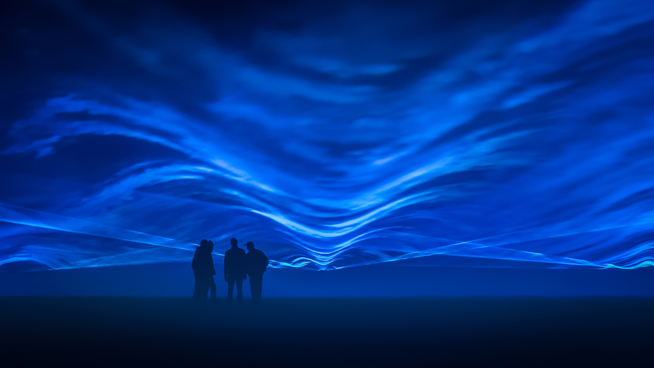 Waterlicht by Daan Roosegaarde. Courtesy of Artichoke and the artists.