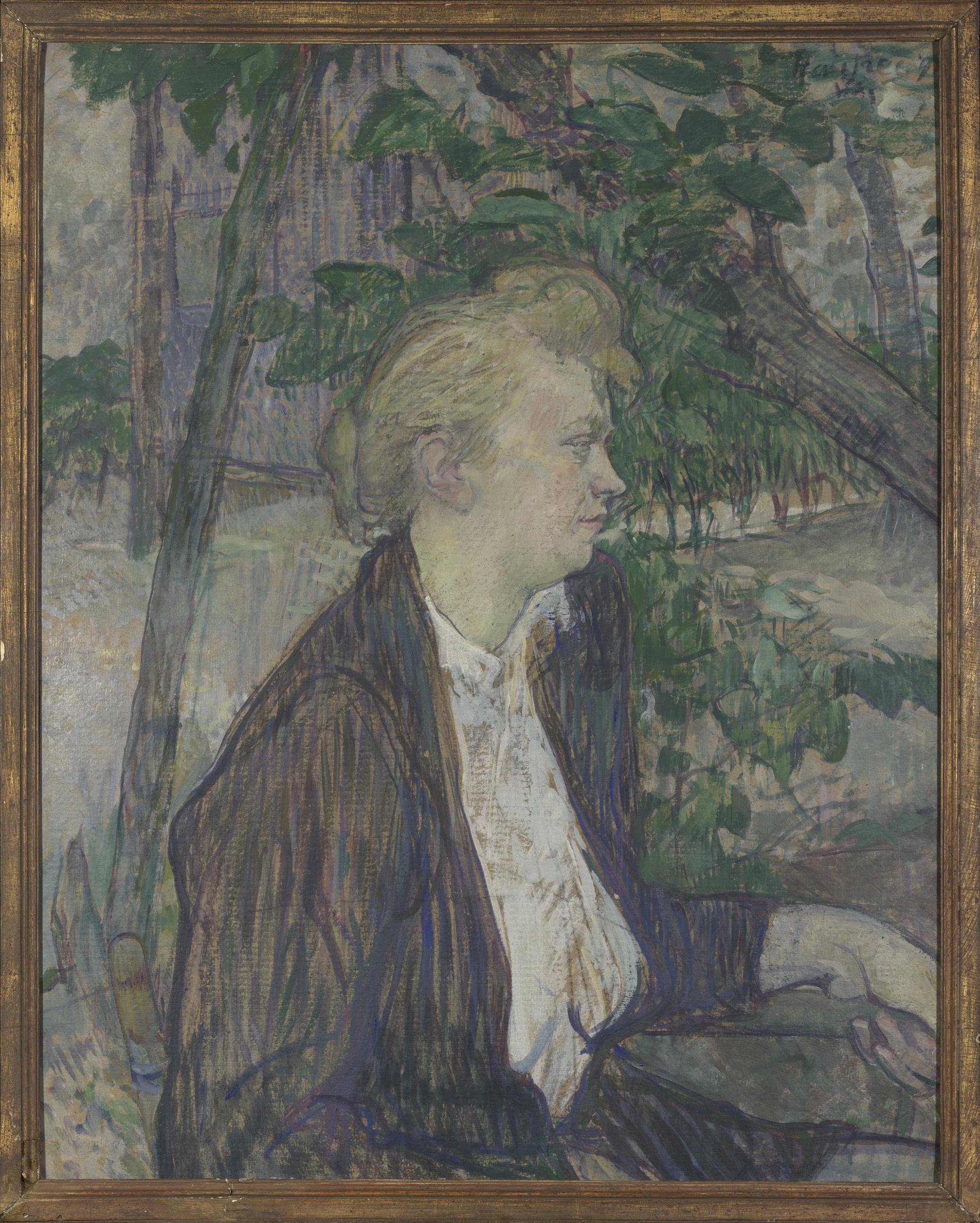 Woman seated in a Garden - Henri de Toulouse-Lautrec, 1891